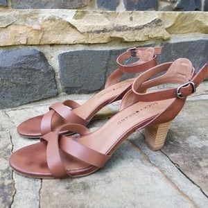 Lucky Brand Brown Leather Strappy Sandal 7.5